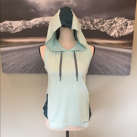10670b6821696 Under Armour Mint teal workout hoodie